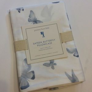 Pottery Barn Kid Sateen Remi Butterfly Pillowcase